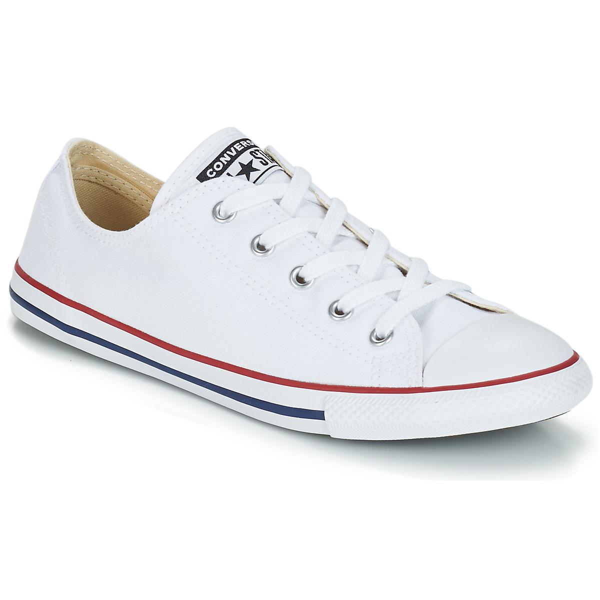 Converse ALL STAR DAINTY OX Weiss / Rot