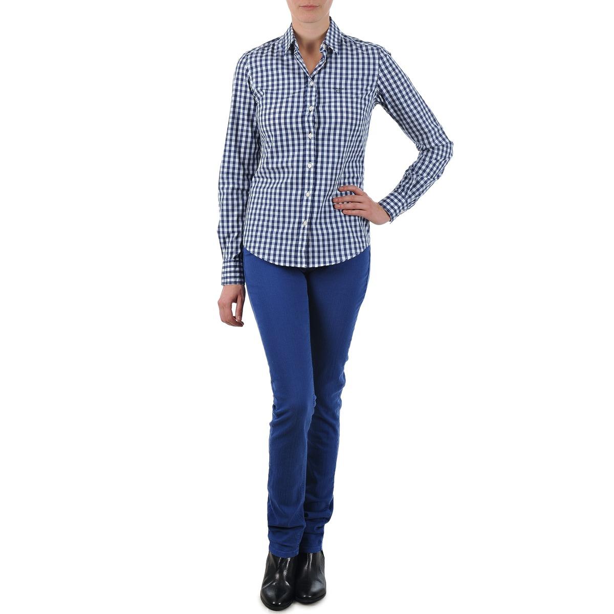 Gant N.Y. KATE COLORFUL TWILL PANT Blau