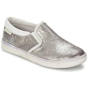 Schuhe Kinder Slip on Pataugas JLIP/S Silbern