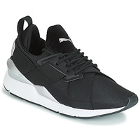 Schuhe Damen Sneaker Low Puma WN MUSE SATIN II.BLACK Schwarz