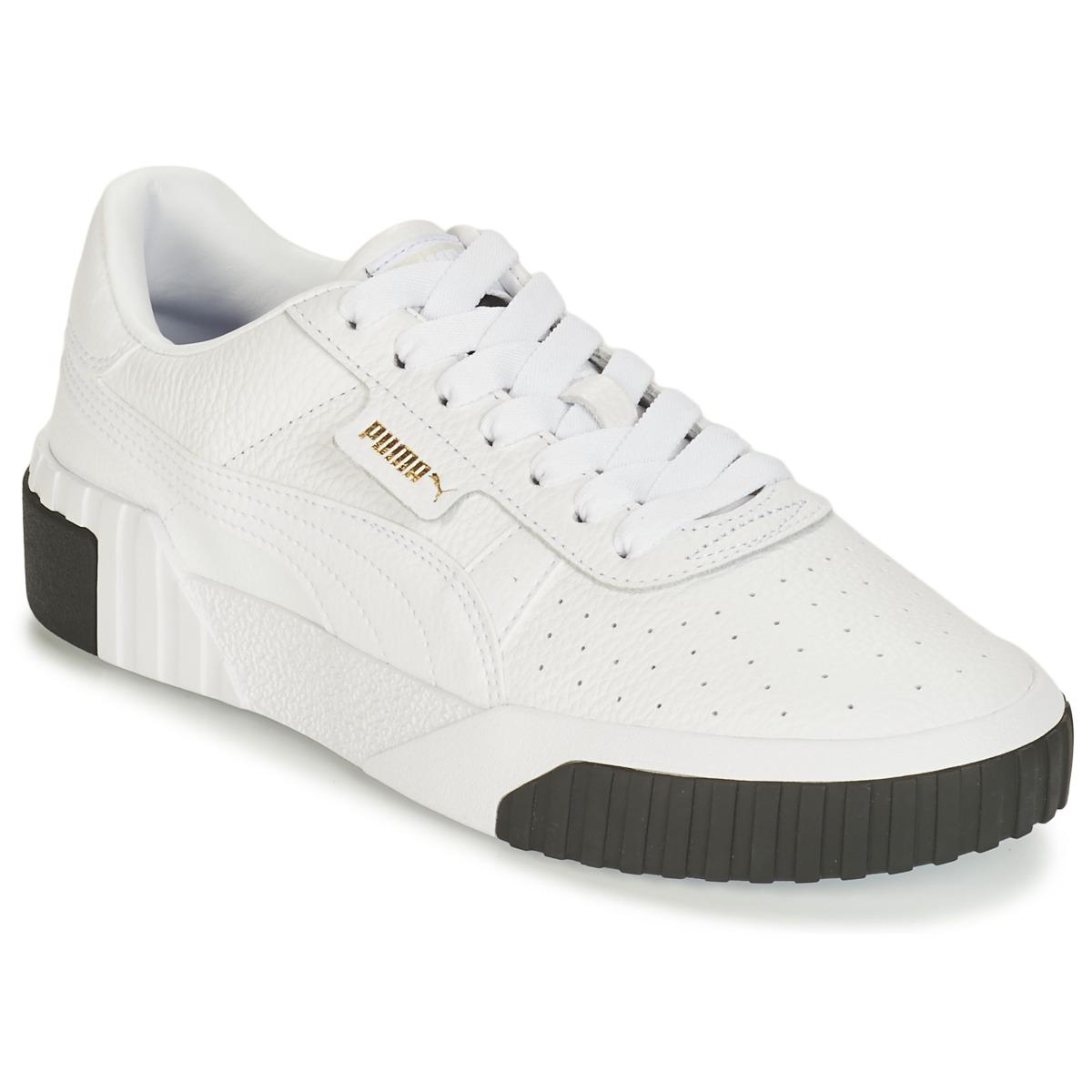 Puma – Cali – Sneaker in Weiß und Schwarz