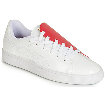 Schuhe Damen Sneaker Low Puma WN BASKET CRUSH.WH-HIBISCU Weiss