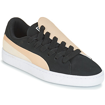 Schuhe Damen Sneaker Low Puma WN BASKET CRUSH PARIS.SILV Schwarz