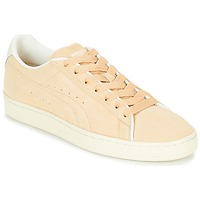 Schuhe Sneaker Low Puma SUEDE RAISED FS.NA V-WHIS Beige