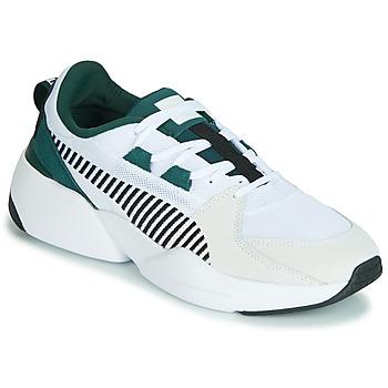 Schuhe Herren Sneaker Low Puma ZETA SUEDE.WHITE-PONDEROSA Weiss