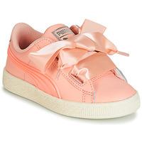 Schuhe Mädchen Sneaker Low Puma PS BASKET HEART JELLY.PEAC Rose
