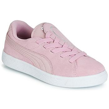 Schuhe Mädchen Sneaker Low Puma PS SUEDE CRUSH AC.LILAC Lila