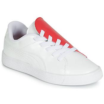 Schuhe Mädchen Sneaker Low Puma PS BKT CRUSH PATENT AC.W-H Weiss