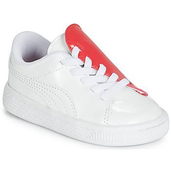 Schuhe Mädchen Sneaker Low Puma INF B CRUSH PATENT AC.W-H Weiss