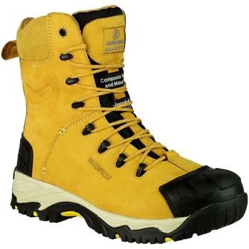Schuhe Herren Sicherheitsschuh Amblers FS998 Safety Zips Honig