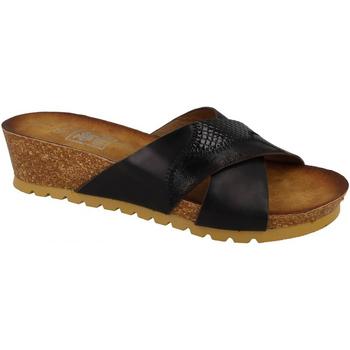 Schuhe Damen Pantoffel Down To Earth  Schwarz
