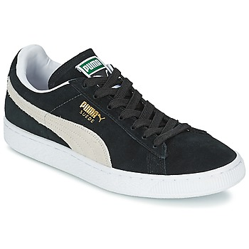 Schuhe Sneaker Low Puma SUEDE CLASSIC Schwarz / Weiss