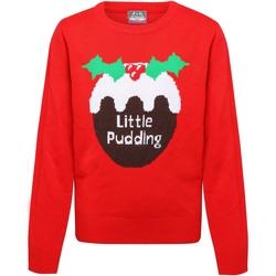 Kleidung Mädchen Pullover Christmas Shop CS135 Rot