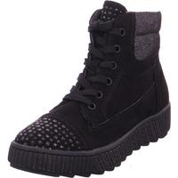 Schuhe Damen Sneaker High Softline Da.-Stiefel BLACK