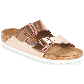 Schuhe Damen Pantoffel Birkenstock ARIZONA SFB Gold