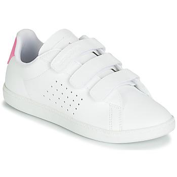 Schuhe Mädchen Sneaker Low Le Coq Sportif COURTSET PS Weiss / Rose
