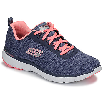 Schuhe Damen Fitness / Training Skechers FLEX APPEAL 3.0 Marine / Rose