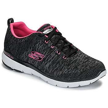 Schuhe Damen Fitness / Training Skechers FLEX APPEAL 3.0 Schwarz / Rose