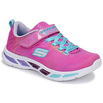 Schuhe Mädchen Sneaker Low Skechers LITEBEAMS Rose