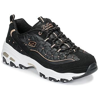 Schuhe Damen Sneaker Low Skechers D'LITES GLAMOUR FEELS Schwarz
