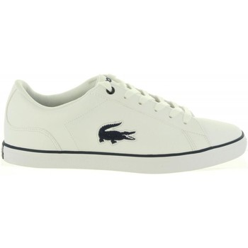 Schuhe Mädchen Sneaker Low Lacoste 36CAJ0013 LEROND 042 WHT-NVY Blanco