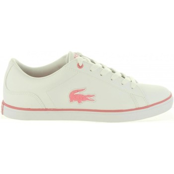 Schuhe Mädchen Sneaker Low Lacoste 36CAJ0013 LEROND B53 WHT-PNK Blanco