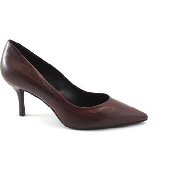 Schuhe Damen Pumps Les Venues 8700 Merlot Bordeaux Schuhe Frau decollet Leder Ferse Zehe Bordeaux