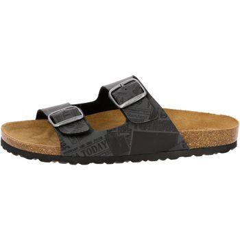 Schuhe Herren Pantoffel Lico Bioline print schwarz