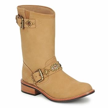 Schuhe Damen Boots Miss L'Fire MCQUEEN Beige