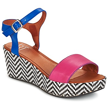 Schuhe Damen Sandalen / Sandaletten Betty London COQUETTE Fuchsienrot / Blau