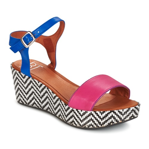Betty London COQUETTE Fuchsienrot / Blau  Schuhe Sandalen / Sandaletten Damen 55,99