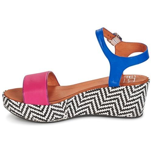 Betty London  COQUETTE Fuchsienrot / Blau  London Schuhe Sandalen / Sandaletten Damen 55,99 8b72a9