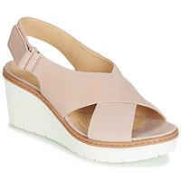 Schuhe Damen Sandalen / Sandaletten Clarks PALM CANDID Beige
