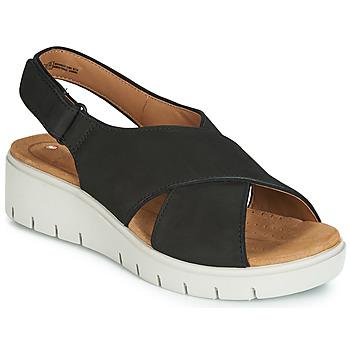 Schuhe Damen Sandalen / Sandaletten Clarks UN KARELY SUN Schwarz