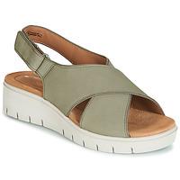 Schuhe Damen Sandalen / Sandaletten Clarks UN KARELY SUN Grün