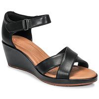 Schuhe Damen Sandalen / Sandaletten Clarks UN PLAZA CROSS Schwarz