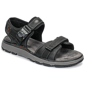 Schuhe Herren Sandalen / Sandaletten Clarks UN TREK PART Schwarz