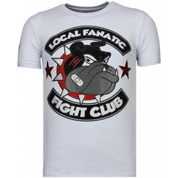 Kleidung Herren T-Shirts Local Fanatic Fight Club Spike Strass Weiß
