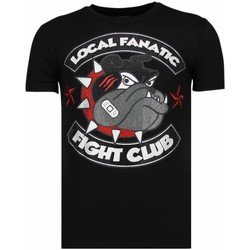 Kleidung Herren T-Shirts Local Fanatic Fight Club Spike Strass Schwarz