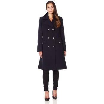 Kleidung Damen Mäntel De La Creme Wintermantel aus Kaschmirwolle Black
