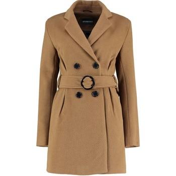 Kleidung Damen Trenchcoats De La Creme Tweed Winterjacke mit Gürtel BEIGE