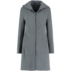 Kleidung Damen Mäntel De La Creme Wintermantel aus Kaschmirwolle mit Kapuze Grey