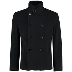 Kleidung Mäntel De La Creme Herren Luxus Velvet Formal / Casual Blazer Black