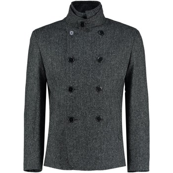 Kleidung Mäntel De La Creme Mens Tweed Short Winter Wolljacke Black