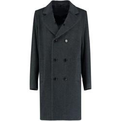 Kleidung Mäntel De La Creme Mens Tweed Short Winter Wolljacke Grey