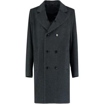 Kleidung Mäntel De La Creme - Herren Grau Tweed Kurz Winter Wolle Jacke Grey