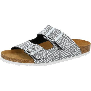 Schuhe Damen Pantoffel Lico Natural Snake Soft silberfarben