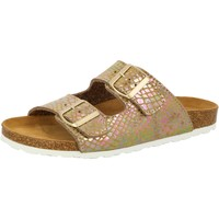 Schuhe Damen Pantoffel Lico Natural snake soft braun