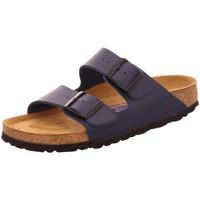 Schuhe Damen Pantoffel Birkenstock Pantoletten Arizona BS 051063 blau