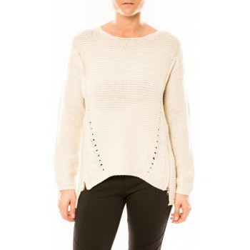 Kleidung Damen Pullover By La Vitrine Pull Laetitia MEM K078 Écru Beige